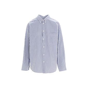Balenciaga 642302tjm104640 Damen's blaue s Baumwolle Shirt