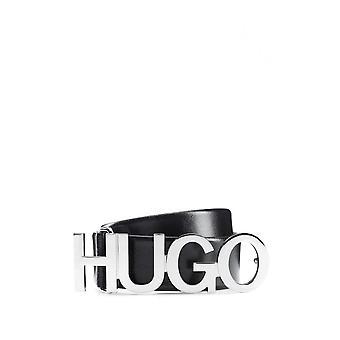Hugo Boss Zula Leather Buckle Black Belt