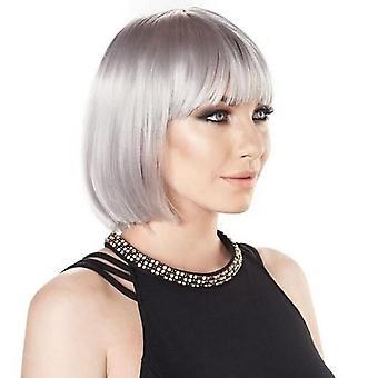 Party Wig - Sexy Silver - Short Bob Wig - Pastel Colours