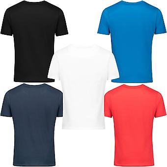 Bench Mens Noah 5-Pack Crew Neck Casual Cotton T-Shirt Tee Top - Bright