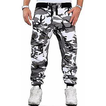 Camouflage skateboardbroek voor mannen, Fashion Casual Slim Middle Waist