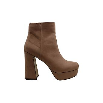 Madden Girl Women's Shoes Gold Fabric Round Toe Ankle Fashion Boots