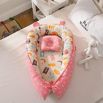 Baby Nest Portable Crib Travel Bed, Infant Cotton Cradle