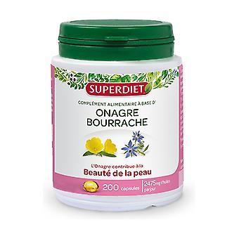 Evening primrose - borage 200 capsules