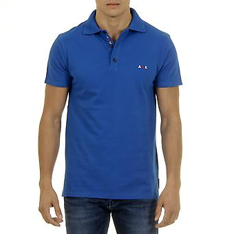 Andrew Charles Men Polo Guler Gât Slim Fit Navy