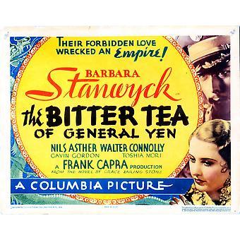 Le thé amer du général Yen titre carte Nils Asther Barbara Stanwyck 1933 Movie Poster Masterprint