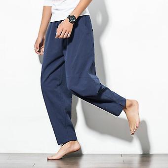 Spring Hip Hop Harem Pants, Men Casual Loose Trousers Drawstring Joggers Pants