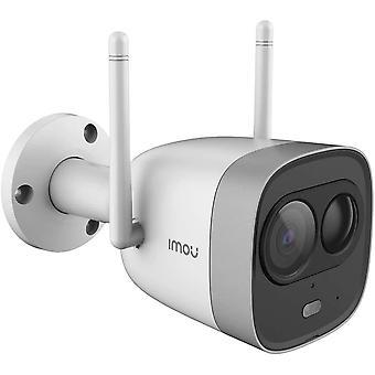 Caméra de sécurité WiFi extérieure Imou Bullet Pro 1080P HD, Projecteur intégré et Sirène 110dB, Détection PIR, Audio 2 voies, Vision nocturne, Contrôle des applications - Travaille avec Alexa/Google