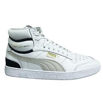 Puma x Ralph Sampson Orta OG Beyaz Deri Dantel Up Erkek Eğitmenler 370718 01
