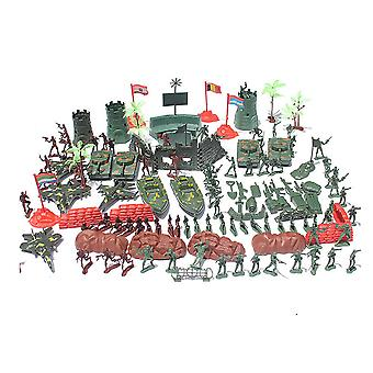 290pcs/set Military sand table scene military base Plastic soldiers 4cm