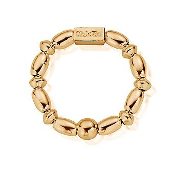 ChloBo GRMR1 נשים & apos;גוון זהב טבעת אורז מיני