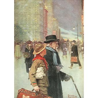 Harpers Pictorial World War 1920 The daily good turn Poster Print by  Norman Rockwell