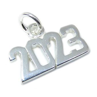 2023 Year Sterling Silver Charm .925 X 1 Years Anniversary Graduation - 8640