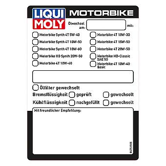 Liqui Moly Oil Change Sticker - #8475