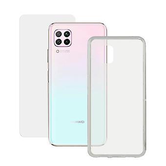 Gehärtetes Glas Mobile Displayschutz + Mobile Hülle Huawei P40 Pro Kontakt 9H Transparent