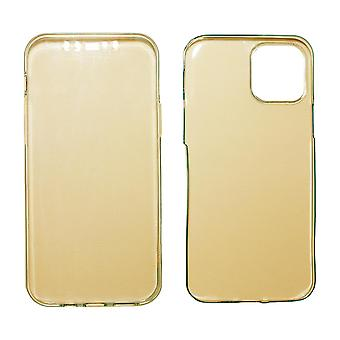 Full Cover kompatibilis iPhone 12 | Tiszta TPU Gold |