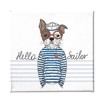 Panel multicolor para perros en poliéster, madera, L60xP3xA60 cm