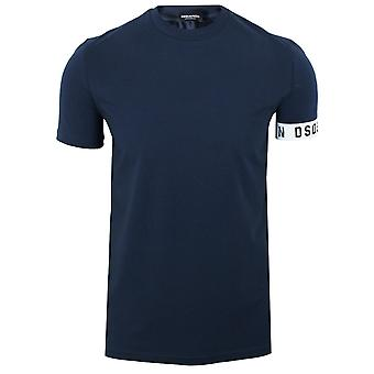 Dsquared2 men's navy cuff detail t-shirt