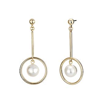 Traveller Drop Earrings with Pearls from Swarovski Gold plated - 114147