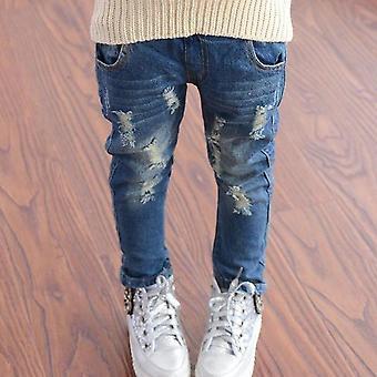 Весна/осень Упругие джинсовые брюки Waist для младенца