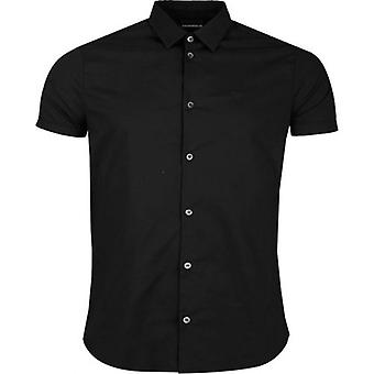 Emporio Armani Slim Fit Cotton Poplin Logo Shirt
