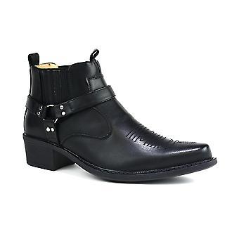Men's Mid Top Cowboy Boots Black