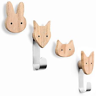 Kleiderhaken fr Kinder aus Holz in Tierformen, Eiche, Wandhaken, Garderobenhaken, Garderobe,