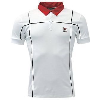 FILA Terrinda Polo - Valkoinen/Punainen