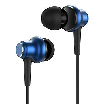 TOPK F37 Earbuds with Mic and Controls - 3.5mm AUX Earbuds Volume Control Wired Earphones Earphones Blue