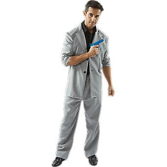 Mens Rico Tubbs Miami Vice 80s TV Grey Florida Detective fancy Dress kostym