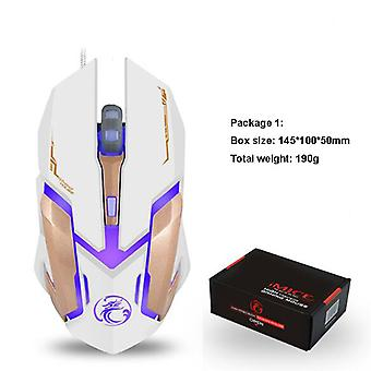 Gaming Mouse With 6 Buttons, Chroma Rgb Backlight And 2400 Adjustable Dpi, Ergonomic Usb Computer Mouse With High Precision Sensor For Windows Pc & La