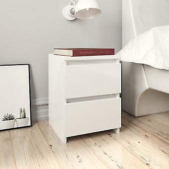 vidaXL Tables de chevet 2 pcs. Blanc brillant 30×30×40 cm panneau de particules