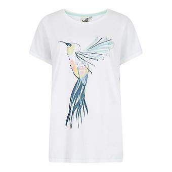 Hummingbird Organic Cotton Graphic T-Shirt Pale Pink