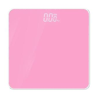Electronic Scale LED Display Human Body Weight Scale(Pink)