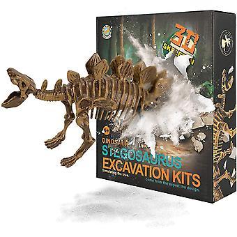 FengChun Stegosaurus Dinosaurier Spielzeug Ausgrabungsset, Dinosaurier Kit Realistische Dinosaurier