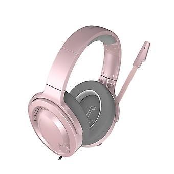 باسوس غامو غامرة الظاهري 3D سماعة الألعاب -PC- الوردي