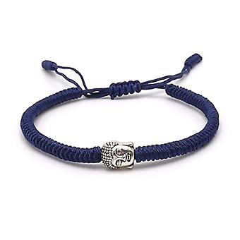 Benava, bracelet with Buddha, friendship bracelet, minimalist. and base metal, color: Blue, cod. 0017-Blau