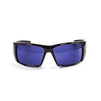 Ocean Sunglasses Aruba, Polarized Sunglasses, Frame: Bright Black, Lenses :Mirrored Blue, 3201.1