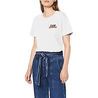 Lee Chest Logo Tee T-Shirt, Ecru (av vit MK), S Donna