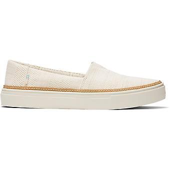 TOMS Parker Ladies Tissu Slip Sur Chaussures Naturel
