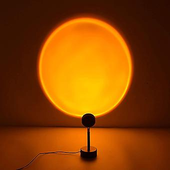 Sunset projection lamp night light projector 90 degree led projection lamp night light for kids adults lights for room decor (sun-red portable) pl-142