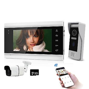 7 '' Wifi Wireless Video Intercoms For Home Indoor Monitor Doorbell With 720p