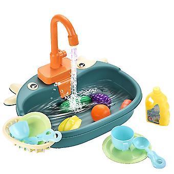 Sininen söpö lasten keittiö teeskennellä pelata toyscookware astiat ja pannut lelu setti x3684