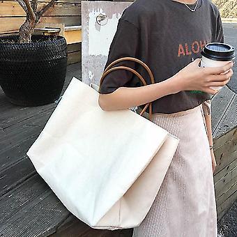 Uusi kangas Naisten olkalaukku Kannettava ostoskassi Uudelleenkäytettävä ruokakaupan tote käsilaukku ES9213