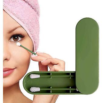 الأخضر القابلة لإعادة الاستخدام مزدوجة الجانب مسحة القطن الصديقة للبيئة مع حالة التخزين dt6864
