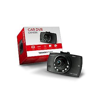 TECSMART Dashcam 1080P com montagem, câmera de carro 90° Lente grande angular, microfone integrado e alto-falante, câmera retrovisora com detector de movimento