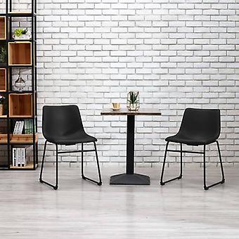 vidaXL dining chair black leatherette