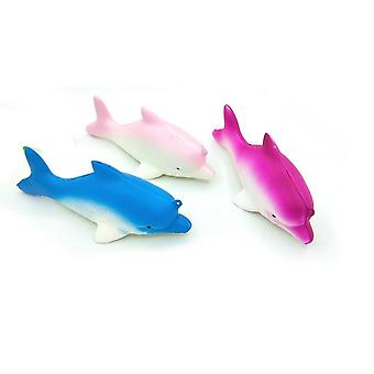 3pcs Squishy Fish Toy Dolphin Shark Whale Simulation Stress Relief Toys