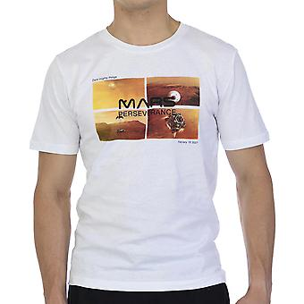 Nasa Men T-Shirt Découvrir Mars Slim Fit Demi-manche Blanc
