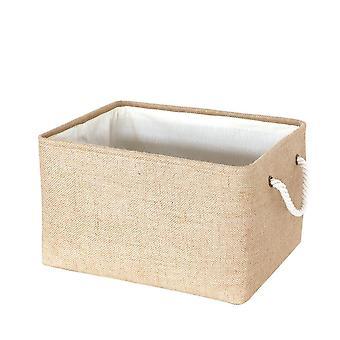 Cube Canvas Fabric Storage Basket Clothes Folding Storage Box For Nursery Underwear Toy Organizer